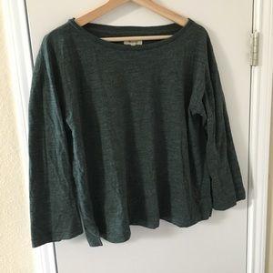 Madewell 3/4 Sleeve Green Shirt